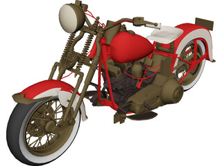Harley-Davidson EL Type (1936) 3D Model