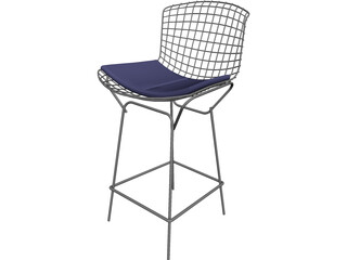 Bertoia Stool 3D Model
