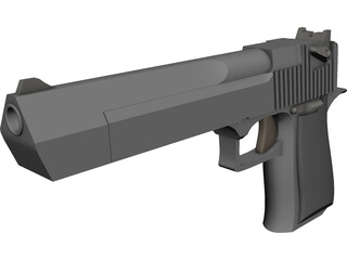 .45 Magnum Desert Eagle 3D Model