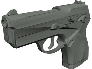 Berretta 9mm Pistol 3D Model