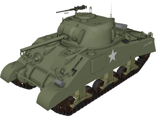 M4A3 (75) W Sherman 3D Model 3D Preview