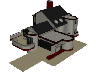 House Multi Level 3D Model