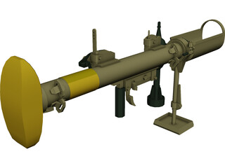 Piat Antitank Weapon 3D Model