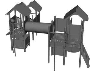 Kids Outdoor Playset 3D Model