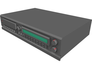 CD Player 3D Model