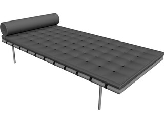 Mies Barcelona Couch 3D Model