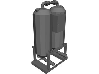 Industrial Air Dryer 3D Model