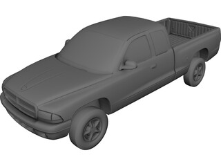 Dodge Dakota Extended Cab (1997) 3D Model 3D Preview