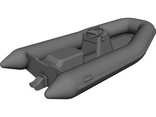 Tender Boat Inflatable [+Jet] CAD 3D Model