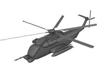 Sikorsky MH-53 Pave Low CAD 3D Model