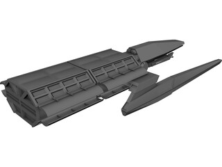 Spaceship Cargotug 3D Model