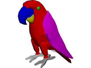 Macaw Hyacinth 3D Model 3D Preview