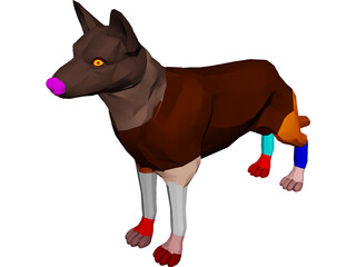 Dog German Shepherd 3D Model