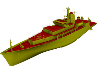 Survey Vessel T-AGS 60 Class 3D Model