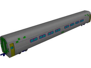 Amtrak Coach 3D Model