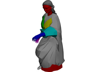 Greek Woman 3D Model