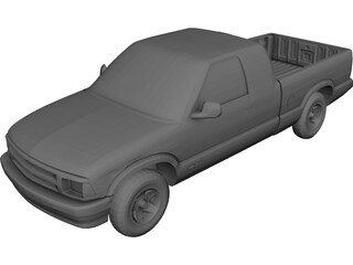 Chevrolet S10 Extended Cab Pickup (1996) 3D Model