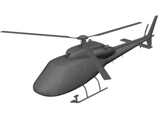 Eurocopter AS-355 Ecureuil 2 3D Model