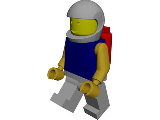 Legoman in Space Suit 3D Model
