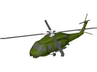 Sikorsky SH-60 Seahawk 3D Model 3D Preview