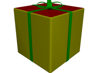 Gift Box 3D Model 3D Preview