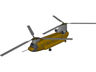 Boeing CH-47D Chinook 3D Model
