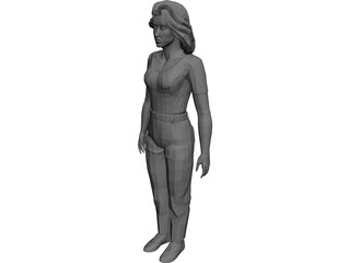 Girl [+Clothes] 3D Model 3D Preview