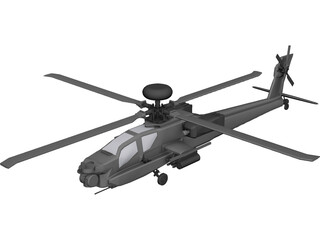 Boeing AH-64 Apache Longbow 3D Model 3D Preview