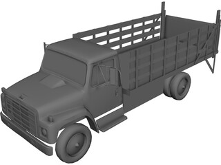 International Flatbed Truck 3D Model