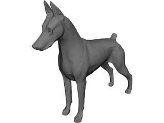 Dog Doberman 3D Model