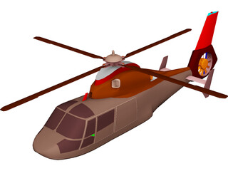 Eurocopter HH-65 Dolphin Coastguard 3D Model