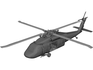Sikorsky UH-60L Black Hawk [+Interior] 3D Model