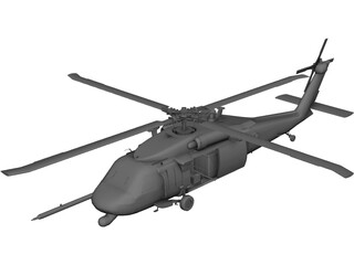Sikorsky MH-60G [+Interior] 3D Model