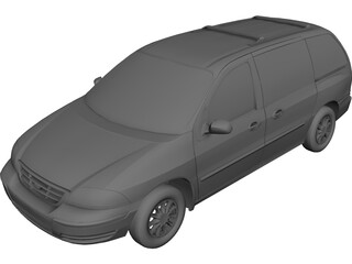 Ford Windstar (2000) 3D Model 3D Preview