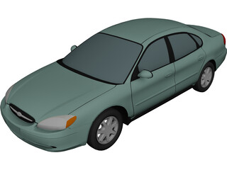 Ford Taurus (2000) 3D Model 3D Preview