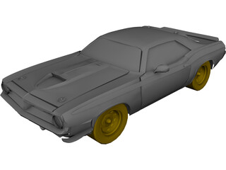 Plymouth Baracuda (1969) 3D Model
