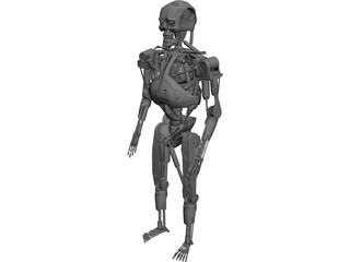 Terminator T-800 Metal Skeleton 3D Model