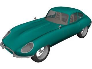 Jaguar Coupe E-type (1961) 3D Model