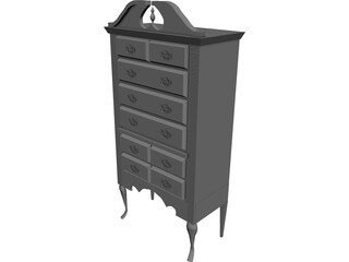 Highboy Furnished 3D Model