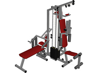Big Gym 3D Model 3D Preview