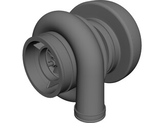 Turbo Charger Mechanism 3D Model