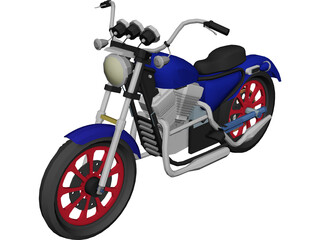 Motorcycle 3D Model 3D Preview