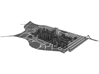 Houston Downtown 3D Model