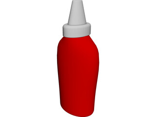 Bottle Ketchup 3D Model