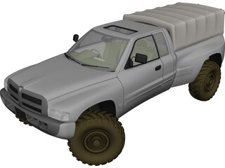 Dodge Pickup 3D Model 3D Preview
