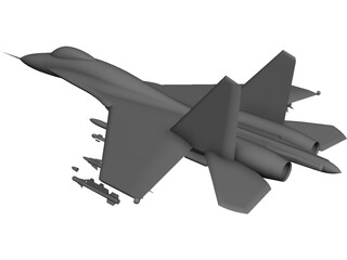 Sukhoi Su-27 Flanker 3D Model 3D Preview