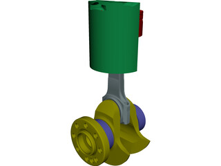 Piston Detailed CAD 3D Model