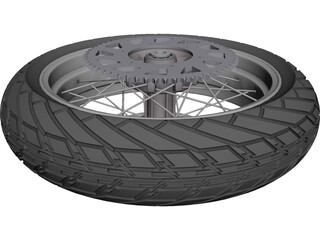 KTM Moto Backwheel LC4 Supermotard CAD 3D Model