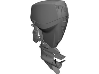 Eagle V4 Outboard Motor CAD 3D Model