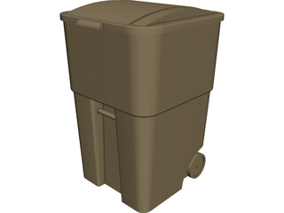 Trash Can Rubbermaid 3D Model